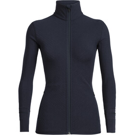 Icebreaker Descender LS Zip Jacket Dame midnight navy